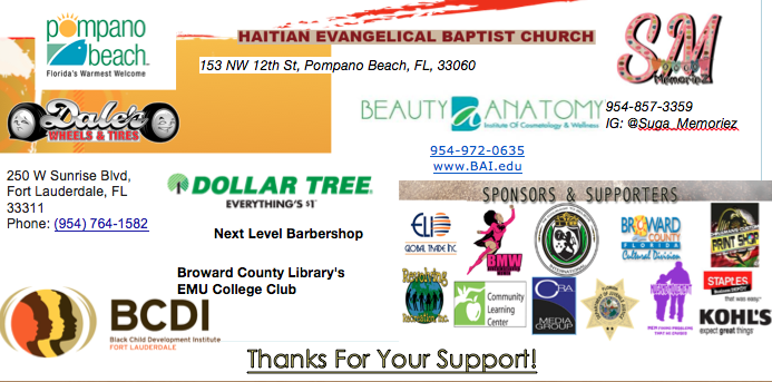 Sponsors of the  3rd Annual Black On Black Crime Solutions Panel