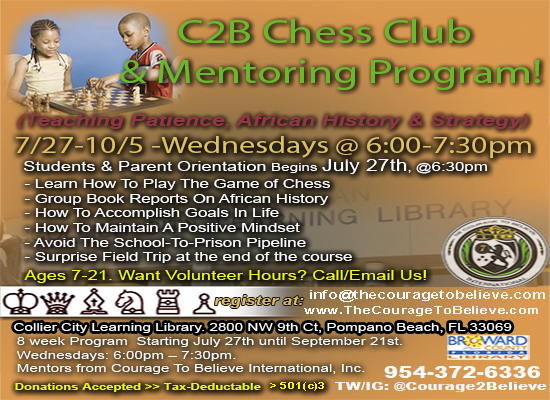 chess program flyer -Courage To Believe International Mentoring