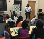 BSO Officer Vincent speaks words of encouragement to the youth!